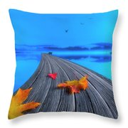 Beautiful Autumn Morning Throw Pillow