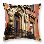 Beautiful Balcony In Austria Throw Pillow