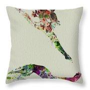 Beautiful Ballet Throw Pillow by Naxart Studio