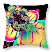 Beautiful Balloon Bouquet Fractal 57 Throw Pillow