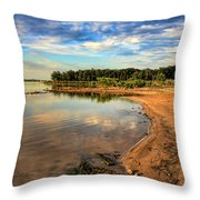 Beautiful Beach Throw Pillow