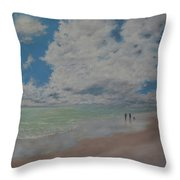 Beautiful Beach Day Throw Pillow