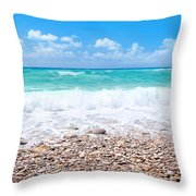 Beautiful Beach Panoramic Landscape Throw Pillow