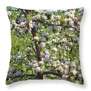 Beautiful Blossoms - Digital Art Throw Pillow by Carol Groenen