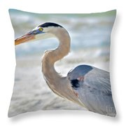 Beautiful Blue On The Beach Throw Pillow