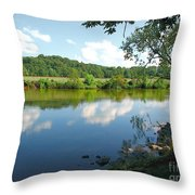 Beautiful Blue Water Throw Pillow