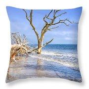 Beautiful Botany Bay Beach  Throw Pillow