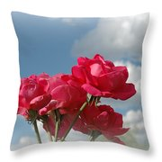 Beautiful Bouquet Of Roses Throw Pillow