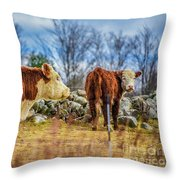 Beautiful Bovine With Side Eye Throw Pillow