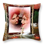 Beautiful Bridal Couple In Love Throw Pillow