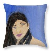 Beautiful Brunette Throw Pillow