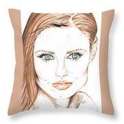 Brunette- So Beautiful  Throw Pillow