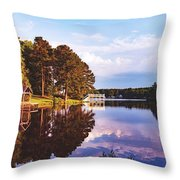 Beautiful Bunn Lake - Zebulon, North Carolina Throw Pillow