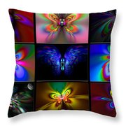 Beautiful Butterfly Collection Throw Pillow