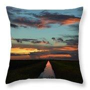 Beautiful Canal Sunset In Florida Throw Pillow