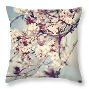 Beautiful Cherry Tree Blossom Throw Pillow