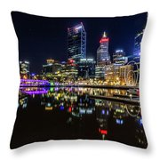Beautiful Cityscape At Perth's Elizabeth Quay  Throw Pillow