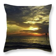 Beautiful Clearwater Sunset Throw Pillow