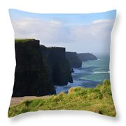 Beautiful Cliff's Of Moher In Liscannor Ireland Throw Pillow