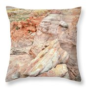 Beautiful Color In Wash 3 Of Valley Of Fire Throw Pillow