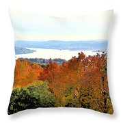 Beautiful Colors Of Autumn Landscape 2 Throw Pillow