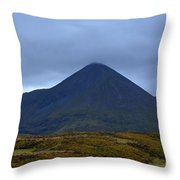 Beautiful Countryside In Cuillen Hills With A Large Mountain  Throw Pillow