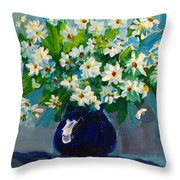 Beautiful Daisies  Throw Pillow by Patricia Awapara