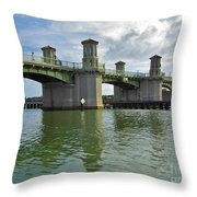 Beautiful Day At The Bridge Of Lions Throw Pillow