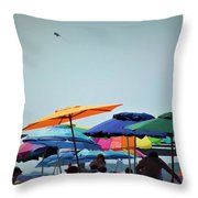 Beautiful Day For The Beach Throw Pillow