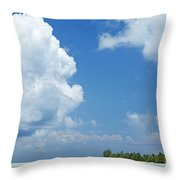 Beautiful Day In Tahiti Throw Pillow