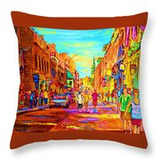 Beautiful Day  In The City Throw Pillow