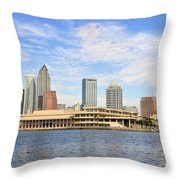 Beautiful Day Tampa Bay Throw Pillow