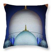 Beautiful Detail At Mosque, Abu Dhabi, United Arab Emirates Throw Pillow