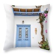 beautiful door Paros Throw Pillow