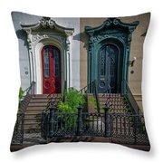 Beautiful Doors On Bull Street Throw Pillow