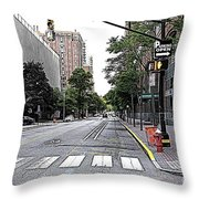 Beautiful Downtown Hoboken  Throw Pillow