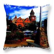 Beautiful Downtown Solvang Throw Pillow