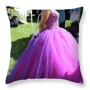 Beautiful Dress Make Up Dad Of Dead  Throw Pillow