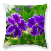 Beautiful Duranta Flower Blossoming Throw Pillow