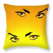 Beautiful Eyes Throw Pillow