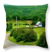 Beautiful Farm In Windsor Forks Throw Pillow