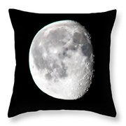 Beautiful February Morning Moon Throw Pillow