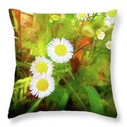 Beautiful Flowers Throw Pillow