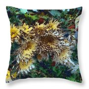 Beautiful Flowers In A Group Throw Pillow