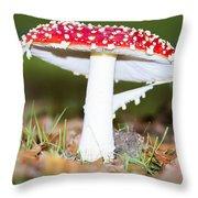 Beautiful Fungus Throw Pillow