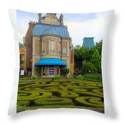Beautiful Garden At France Pavilion Throw Pillow