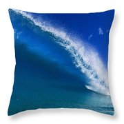 Beautiful Glassy Wave Throw Pillow