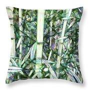 Beautiful Green Leaf Bamboo Throw Pillow