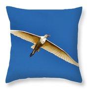 Beautiful Heron Throw Pillow