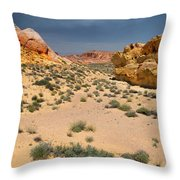 Beautiful Hiking In The Valley Of Fire Throw Pillow